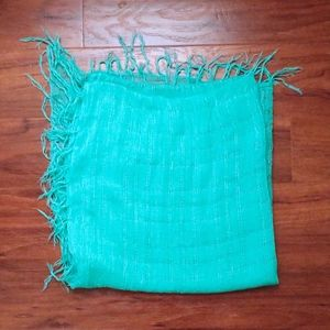 Teal colored shawl/scarf/wrap